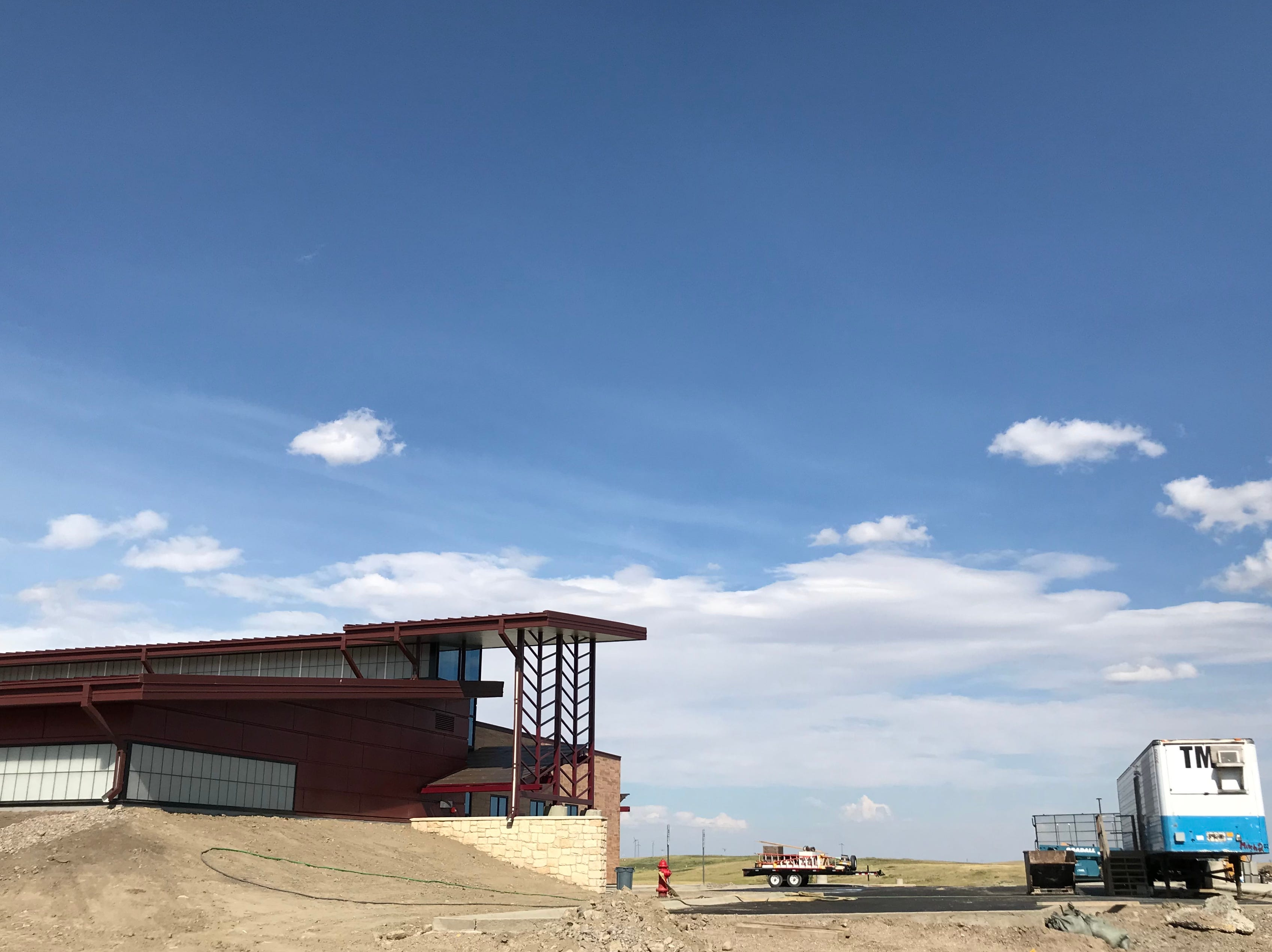 Construction this summer at Blackfeet Community College on the new new health science & education building, named Monday in honor of Elouise Cobell.
