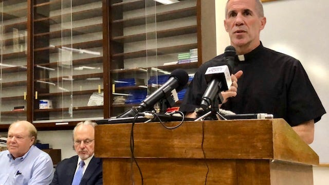 Archbishop Michael Jude Byrnes on Wednesday announces a Chapter 11 bankruptcy filing for the Archdiocese of Agana to help settle nearly 200 clergy sex abuse claims. He said this is the path that will bring the greatest measure of justice for the greatest number of victims.