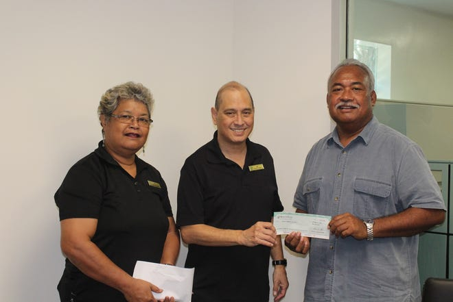 Bank of Guam generously donated to the Palau Community College 2018 Endowment Fund on October 30.  The Palau Community College Endowment Fund is a savings fund for future programs and services of the college.  The Endowment Fund has been saving donations since 1993 and currently aims towards an ultimate principle of $10 million. Bank of Guam Vice President/Palau Branch Manager David Sablan along with Kliu Kangichi presented a $5000 check donation to Palau Community College President Dr. Patrick U. Tellei.