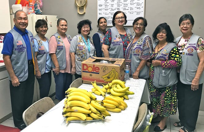 In support of LCI District 204's hunger relief program, the Guam Sunshine Lions Club, provided meals to the homeless at Kamalen Karidad on October 18. Pictured from left: President Pete Babauta, Lions Mary Taitano, Julie Cruz, Clare Cruz, Tish Tano, Doris Limtiaco, Dee Cruz, Connie Rivera, and Marietta Camacho.