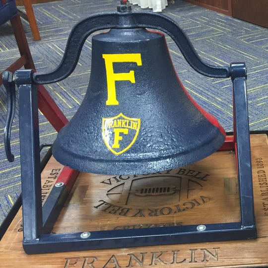 Franklin College has won the Victory Bell game since 2005.  photo Provided by Franklin College Athletics The Victory Bell has been Franklin property lately.