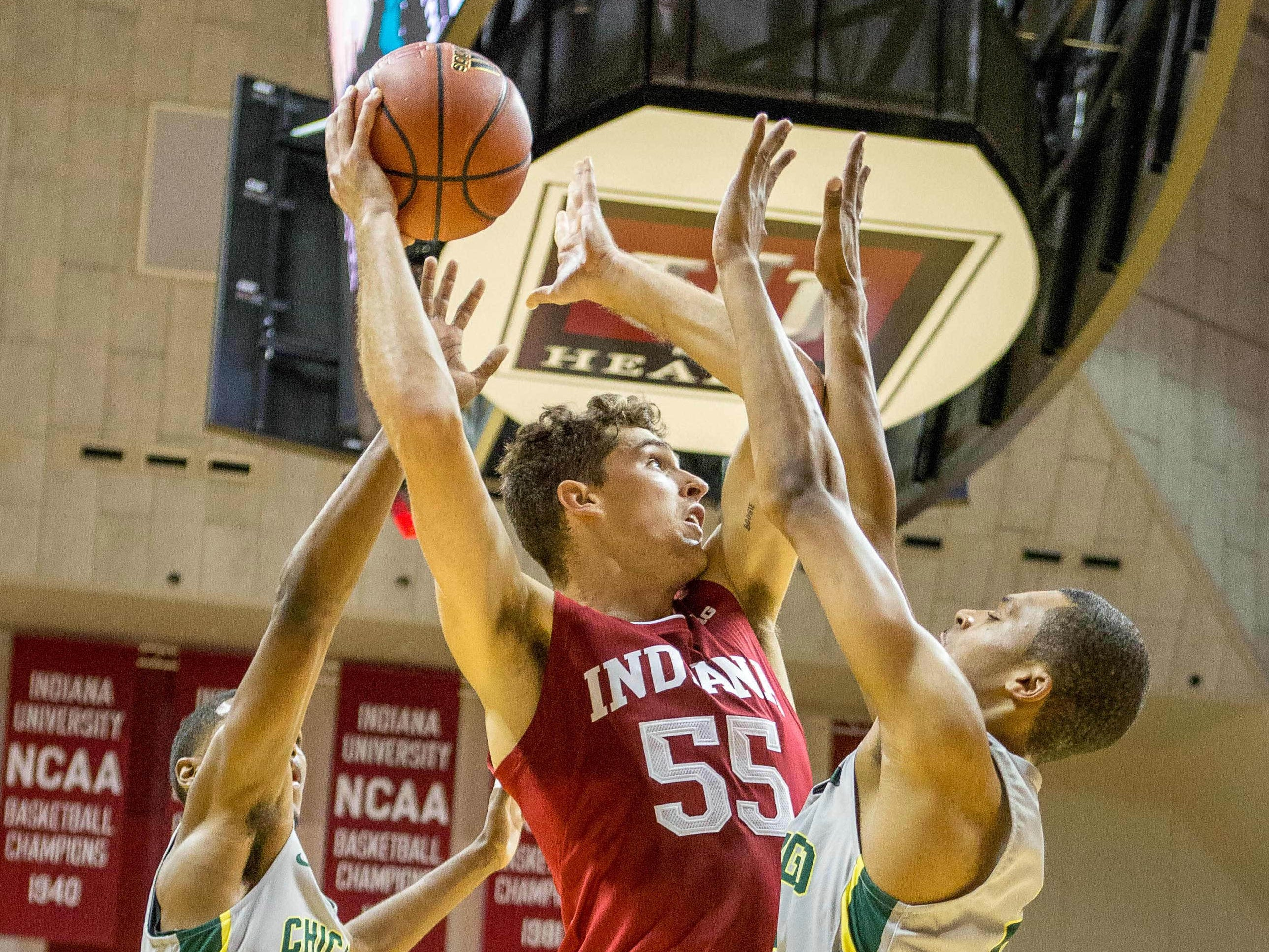 Hoosiers forward Evan Fitzner scored 14 points in his IU debut against Chicago State.