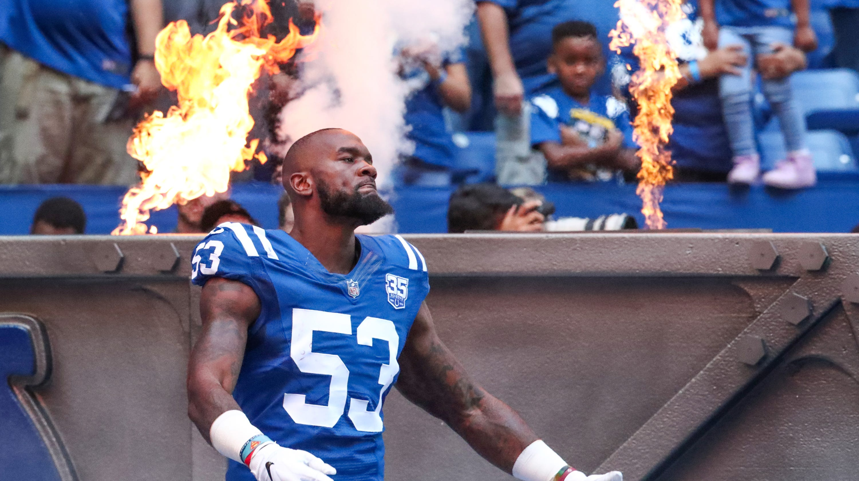 reputable site 08d65 191ab How a life filled with tragedy shaped Colts rookie LB Darius ...