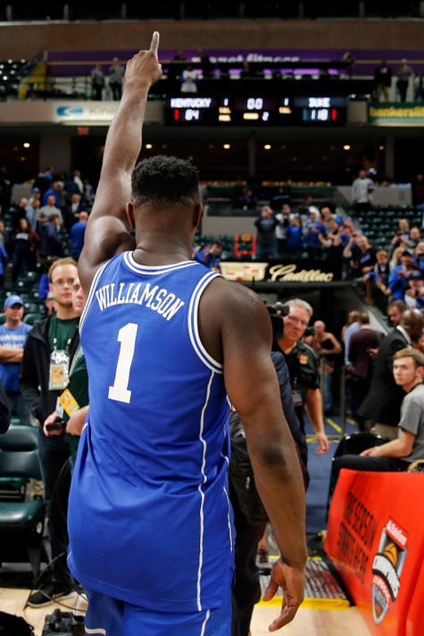 af46ed1edae Duke s Zion Williamson produces highlight reel in blowout of Kentucky