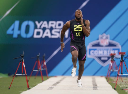"Darius Leonard had an injured hamstring, and coaches at last winter's NFL Combine told him he could skip the 40-yard dash. He refused. ""A little Frank Gore in him,"" Colts GM Chris Ballard would later say."