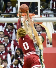 IU freshman Romeo Langford takes it to the rim against Chicago State on Tuesday at Assembly Hall.