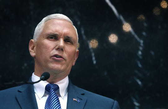 Gov. Mike Pence in his State of the State address Tuesday, Jan. 13, 2015, called for a balanced budget amendment to Indiana's constitution. He also called for increased funding for education.