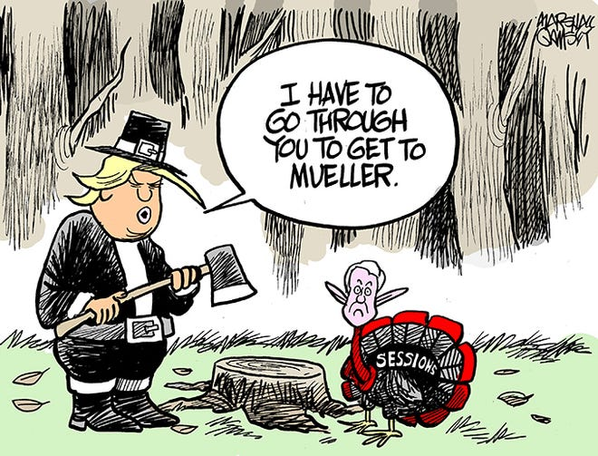 Jeff Sessions gets the ax.