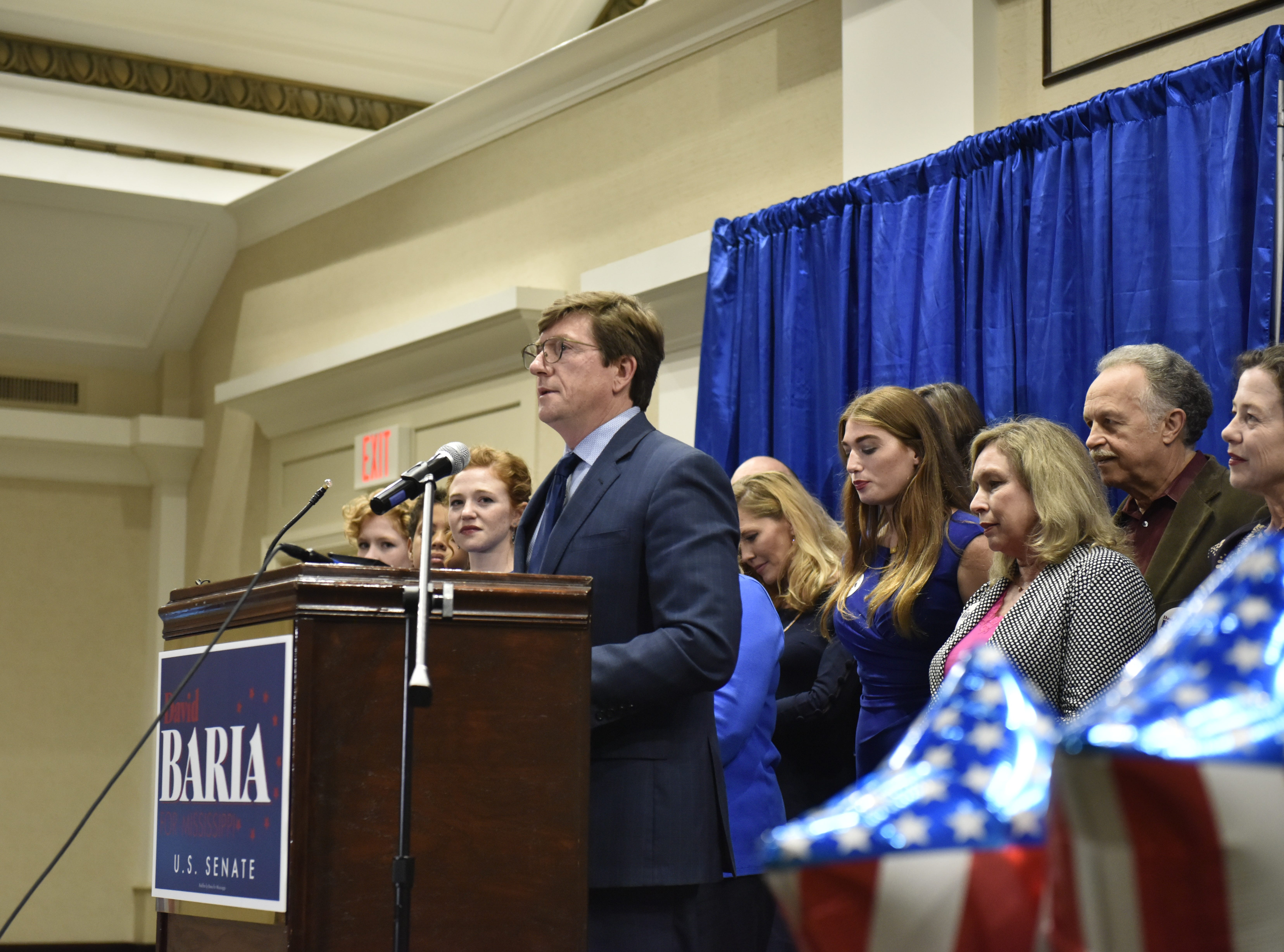 David Baria at his election party