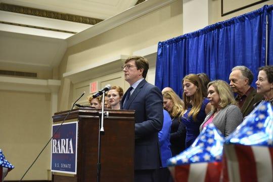 David Baria at his election party