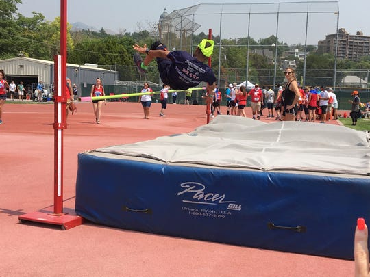 Timothy Lewis competed in the high jump at the Transplant Games of America.