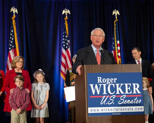U.S. Sen. Roger Wicker, speaking to at his election night victory party for Wicker Nov. 6, 2018, at the Westin hotel in downtown Jackson, was among the investors duped in a $100 million Ponzi scheme.