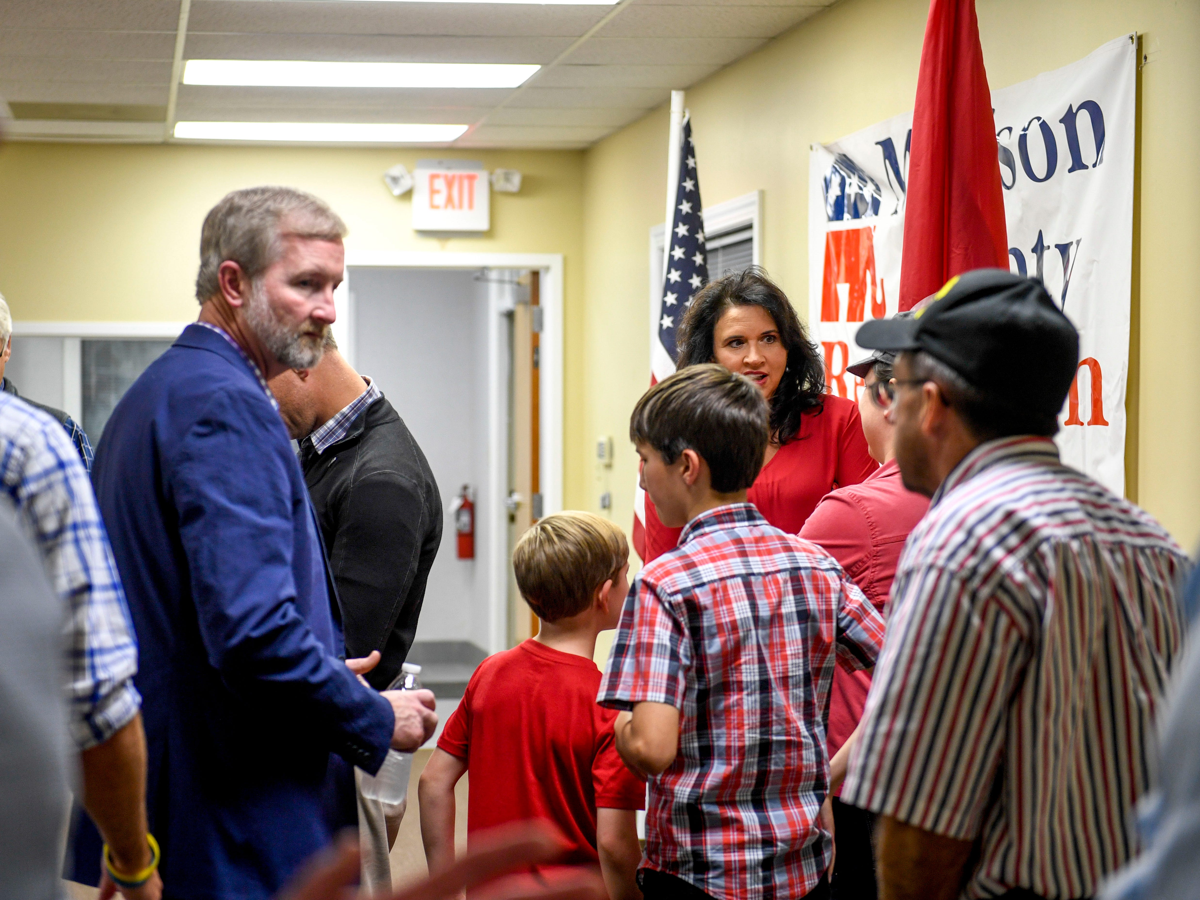 Folks gather and talk after Chris Todd wins state Representative District 73 during an election night watch party at Madison County Republican Headquarters in Jackson, Tenn., on Tuesday, Nov. 6, 2018.