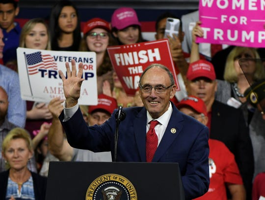 U.S. Rep. Phil Roe attends a Trump rally Oct. 1, 2018, in Johnson City, Tenn.