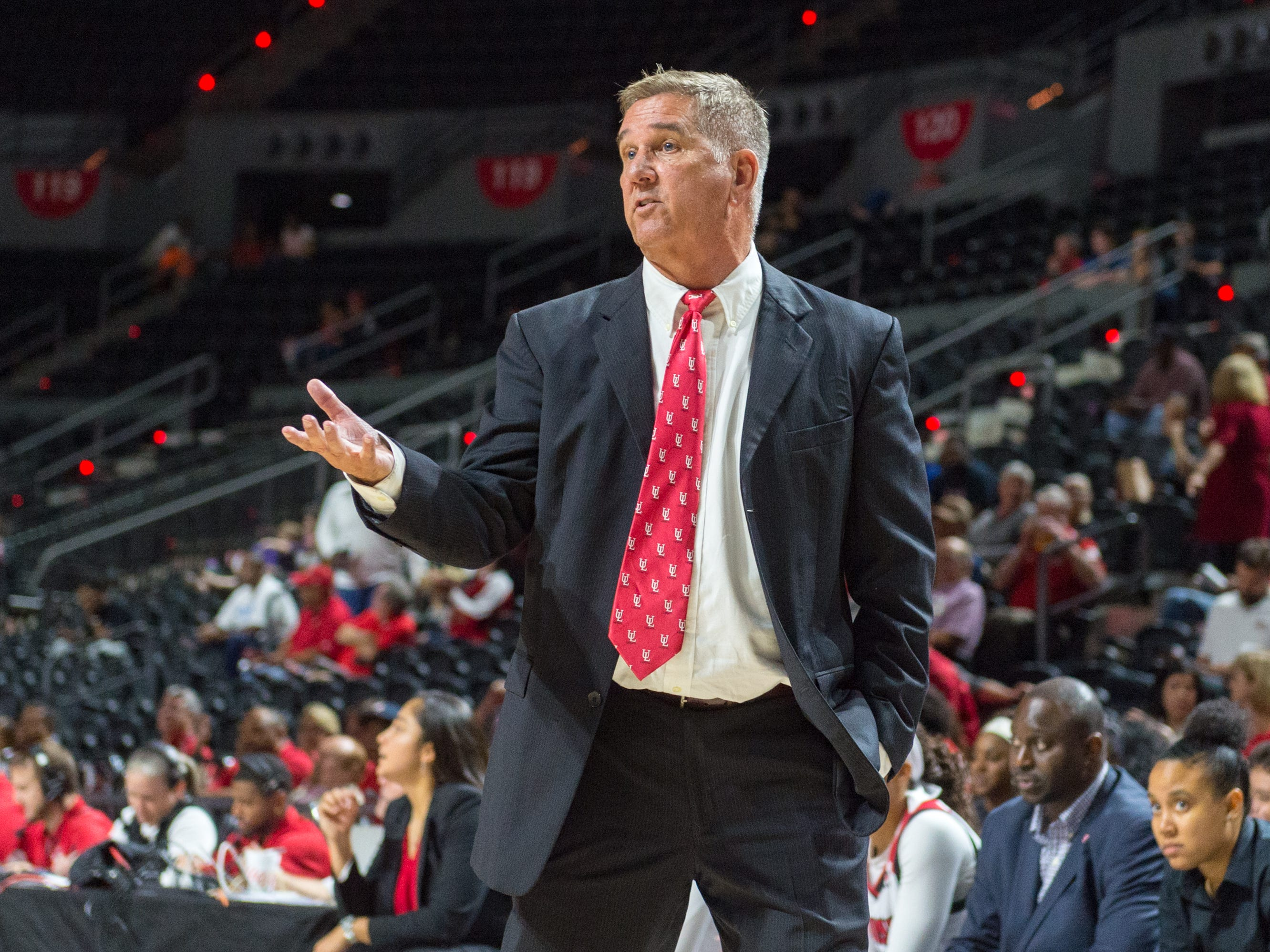 Head Coach Gary Brodhead as the Cajuns take on Lamar in Womens Basketball. Tuesday, Nov. 6, 2018.