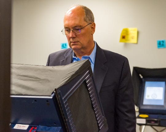 Mitch Landry casting his vote in Lafayette Parish.