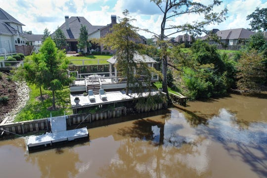 This home sits on prime property overlooking the Vermilion River.