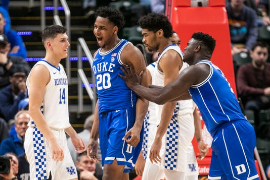 Image result for kentucky loses to duke basketball 2018