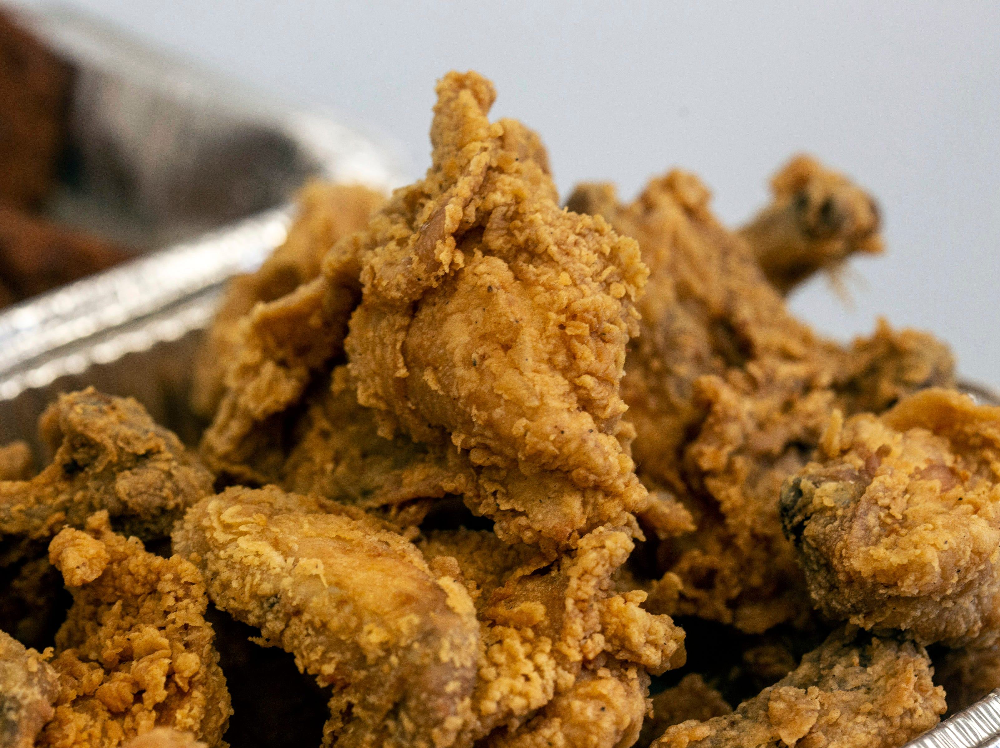 LK's famous fried chicken is a staple of the Soul Food Sundays at Lucretia's Kitchen. 9/9/18
