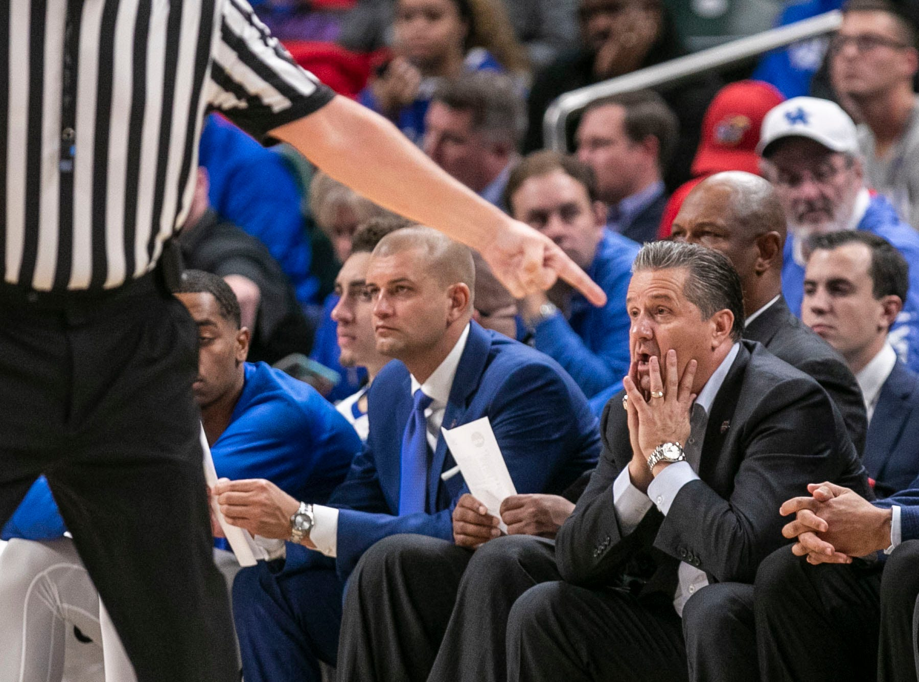 The Kentucky bench was bedeviled and dismayed as Duke rolled past the Wildcats 118-84 in the Champions Classic Tuesday night. Nov. 6, 2018