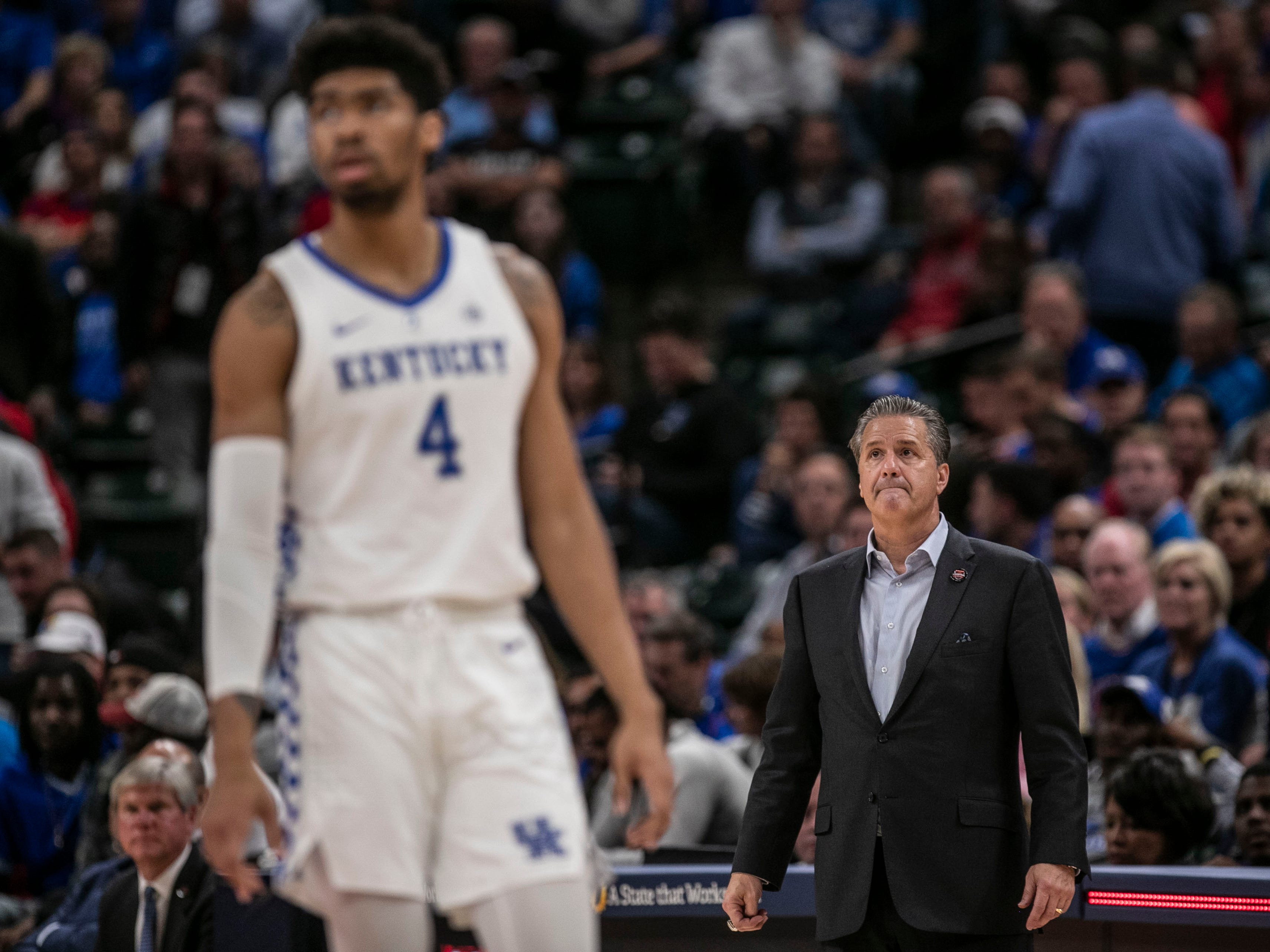 Kentucky's John Calipari and forward Nick Richards didn't have any answers for Duke  as Blue Devils cruised past Kentucky 118-84 in the Champions Classic Nov. 6, 2018