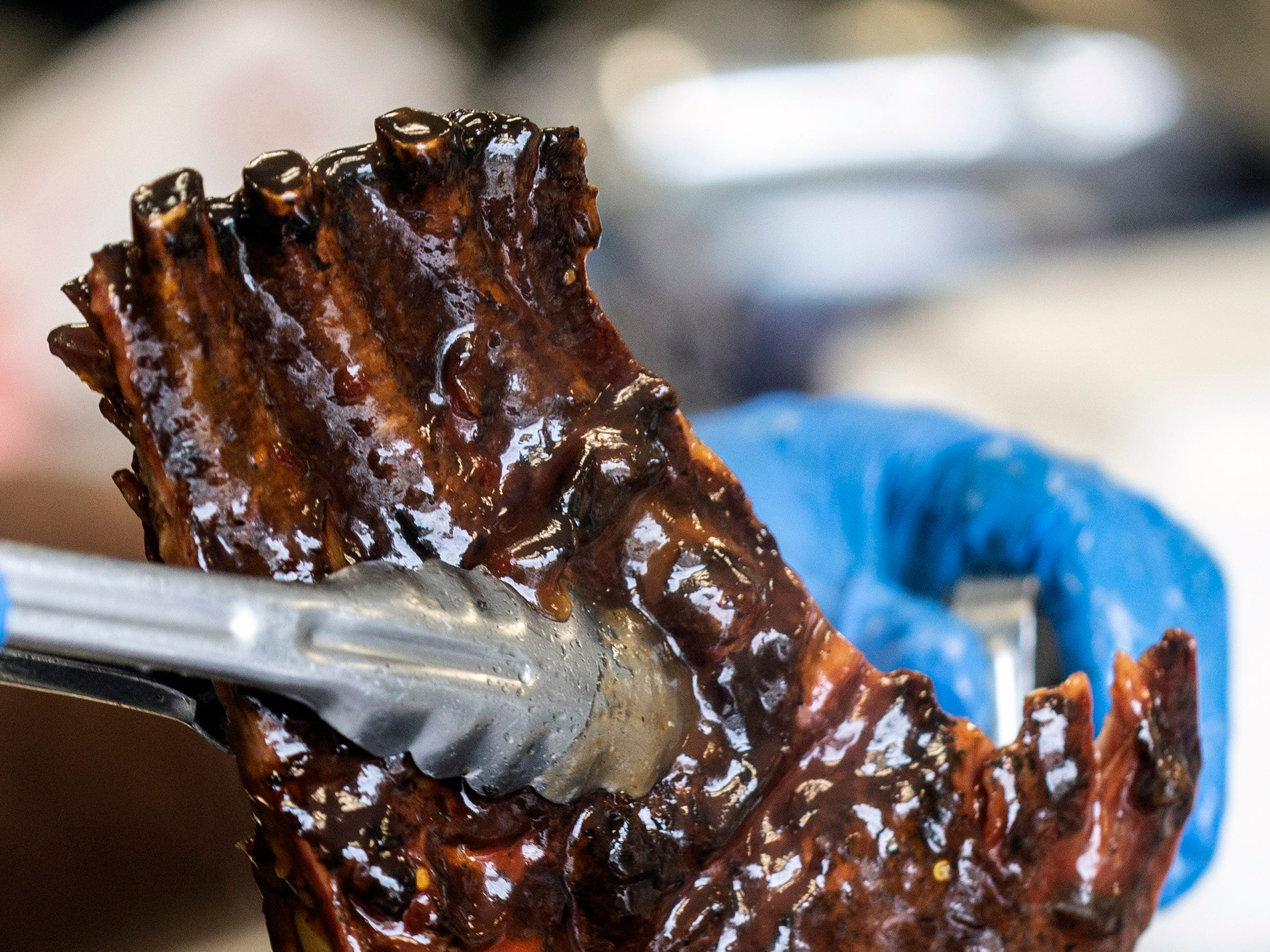 After hours of being smoked, the ribs at Lucretia's Kitchen are then fully submerged in her own BBQ recipe known as liquid gold. 9/9/18