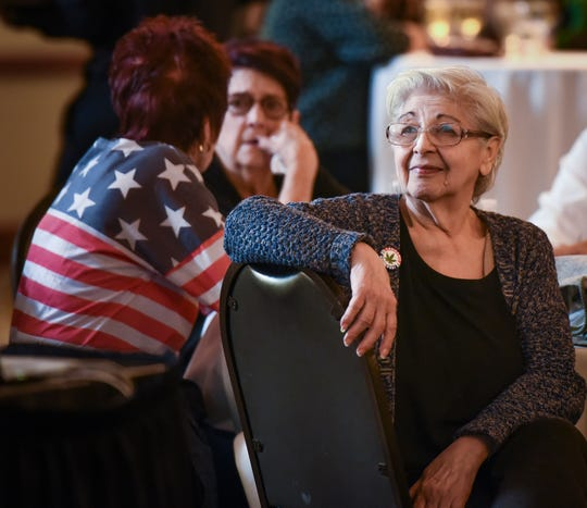 """""""We don't have to be ashamed anymore, Dolores Saltzman, 80, of Lake George said Tuesday, Nov. 7, 2018, while watching election results at a Proposal 1 watch party at the Radisson Hotel in Lansing.  Saltzman says marijuana has helped in her recovery from several surgeries, and eases ongoing pain.  She says opiods make her sick.  She was arrested last June when a deputy smelled marijuana at her home.  Her medical marijuana card had expired, so she arrested and taken into custody for possession of less than an eighth-of-an-ounce of marijuana."""