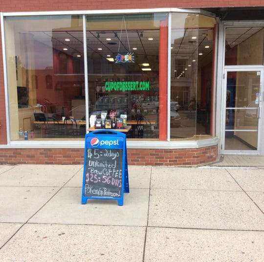 The exterior of Cup of Dessert at 220 S. Washington in downtown Lansing.
