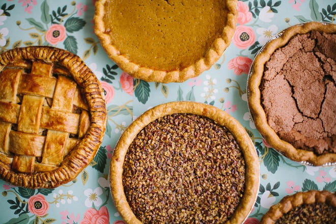Muddy's Bake Shop offers an assortment of pies for your Thanksgiving feast.