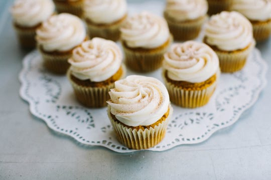 Pumpkin cupcakes from Muddy's Bake Shop will be a fun addition to your Thanksgiving dessert buffet. They will be offering many flavors of cupcakes, bars, cookies, cakes and pies for the holidays.