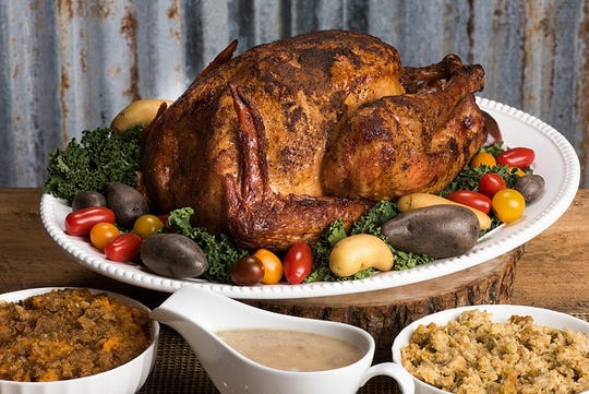 "Corky's offers whole-meal Thanksgiving ""feasts"" that include its signature smoked turkeys, two sides and gravy. You can also order a la carte."