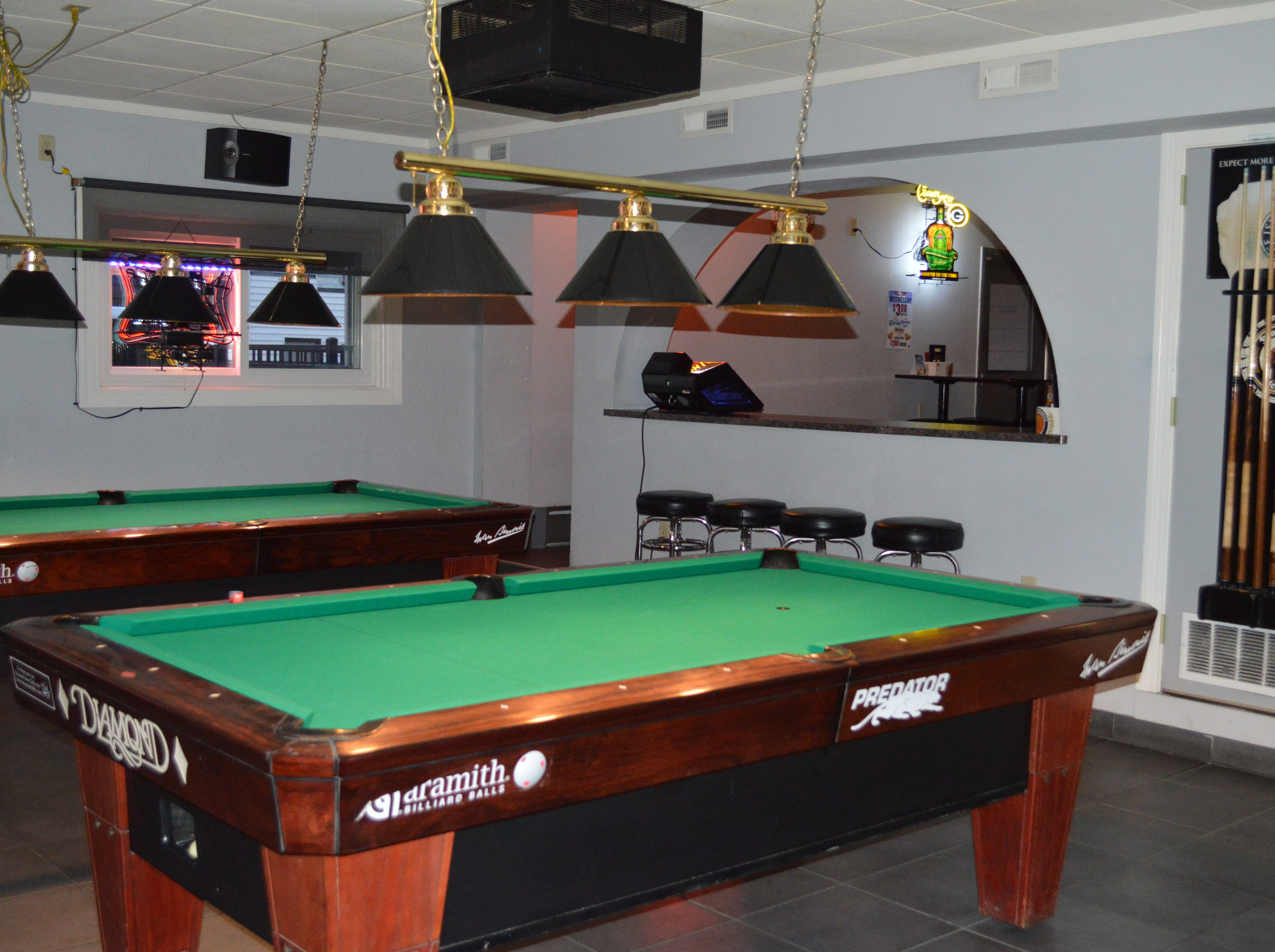 Light Palace Pub and Grill has pool tables and darts.