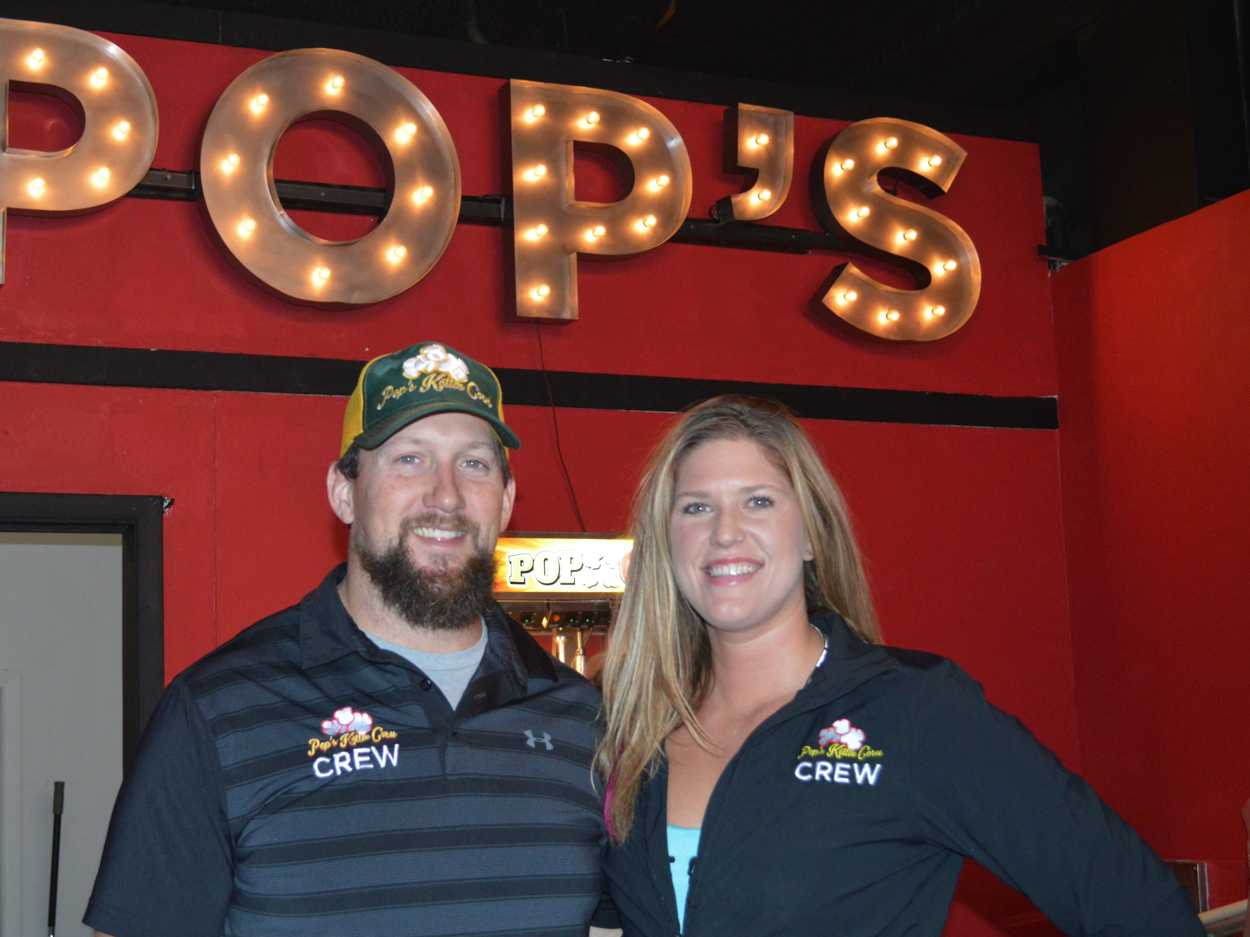 Mark Knudsen owns Pop's Kettle Corn and his girlfriend, Megan Giersch, is the brand manager. They are two of the four co-owners of 5Points Brew and Sweets.