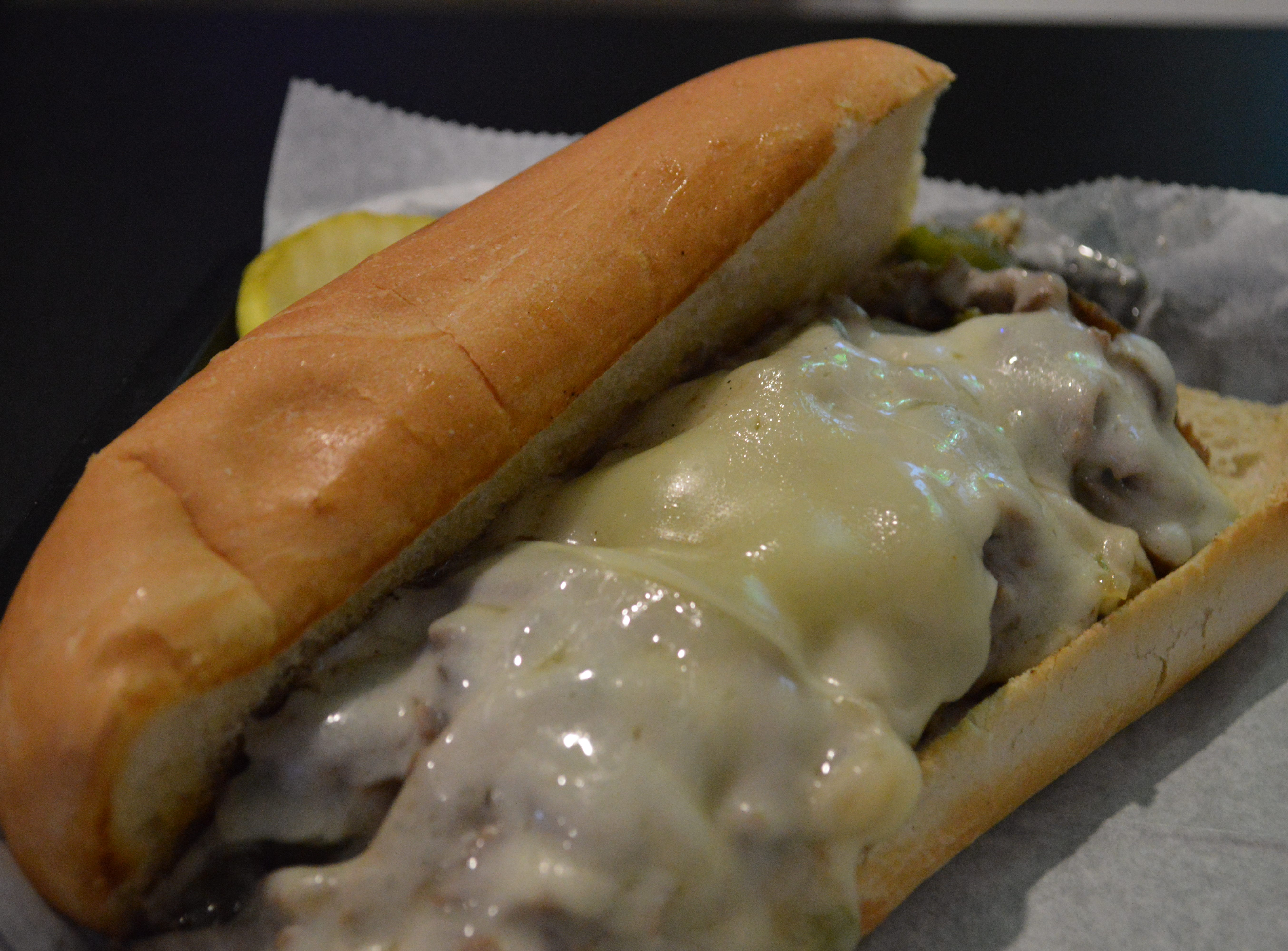 John Schultz, owner of Light Palace Pub and Grill, said his favorite menu item is the Philly cheesesteak, which is $7.95. It has steak, cheese, grilled onions, mushrooms, green peppers, mozzarella and provolone. It's served on a grilled bun and comes with a side.