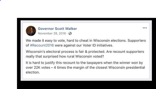 Gov. Walker on 2016 recount in Wisconsin