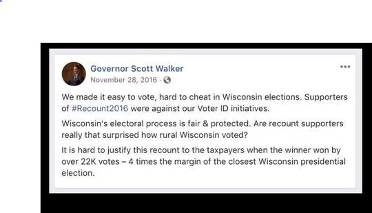 Gov. Walker on 2016 recount in Wisconsin
