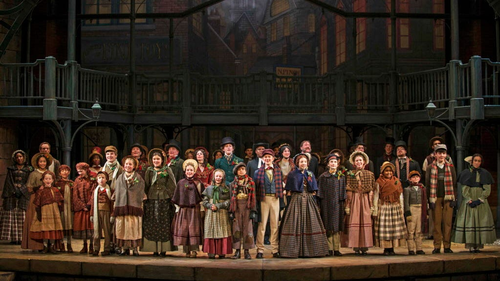"The cast from Milwaukee Repertory Theater's 2013-'14 production of ""A Christmas Carol."""