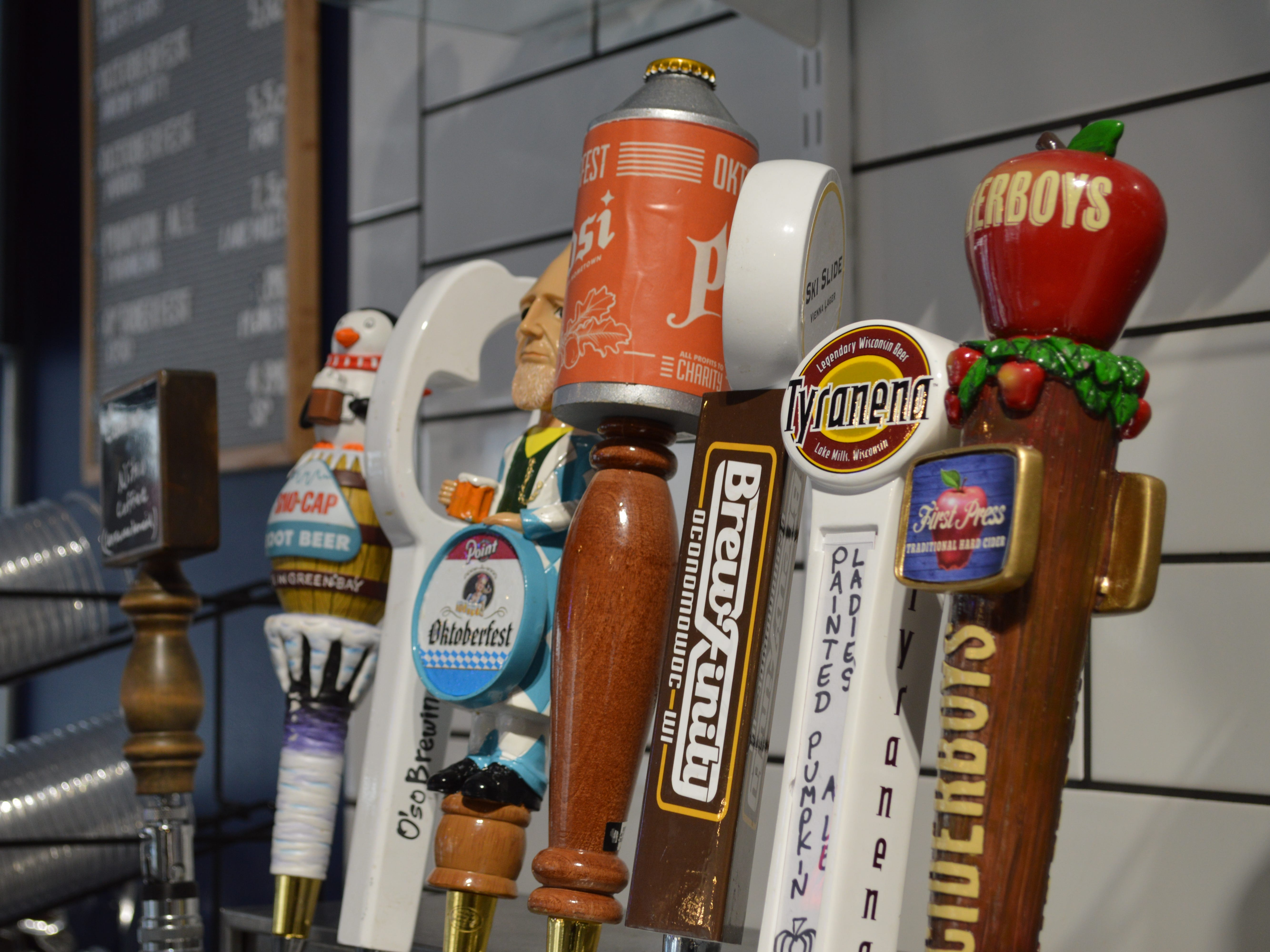 5Points Brew and Sweets has an eight tap system with five beers and a cider, which all rotate, and Cadence Cold Brew nitro coffee and Titletown Brewing Company root beer.