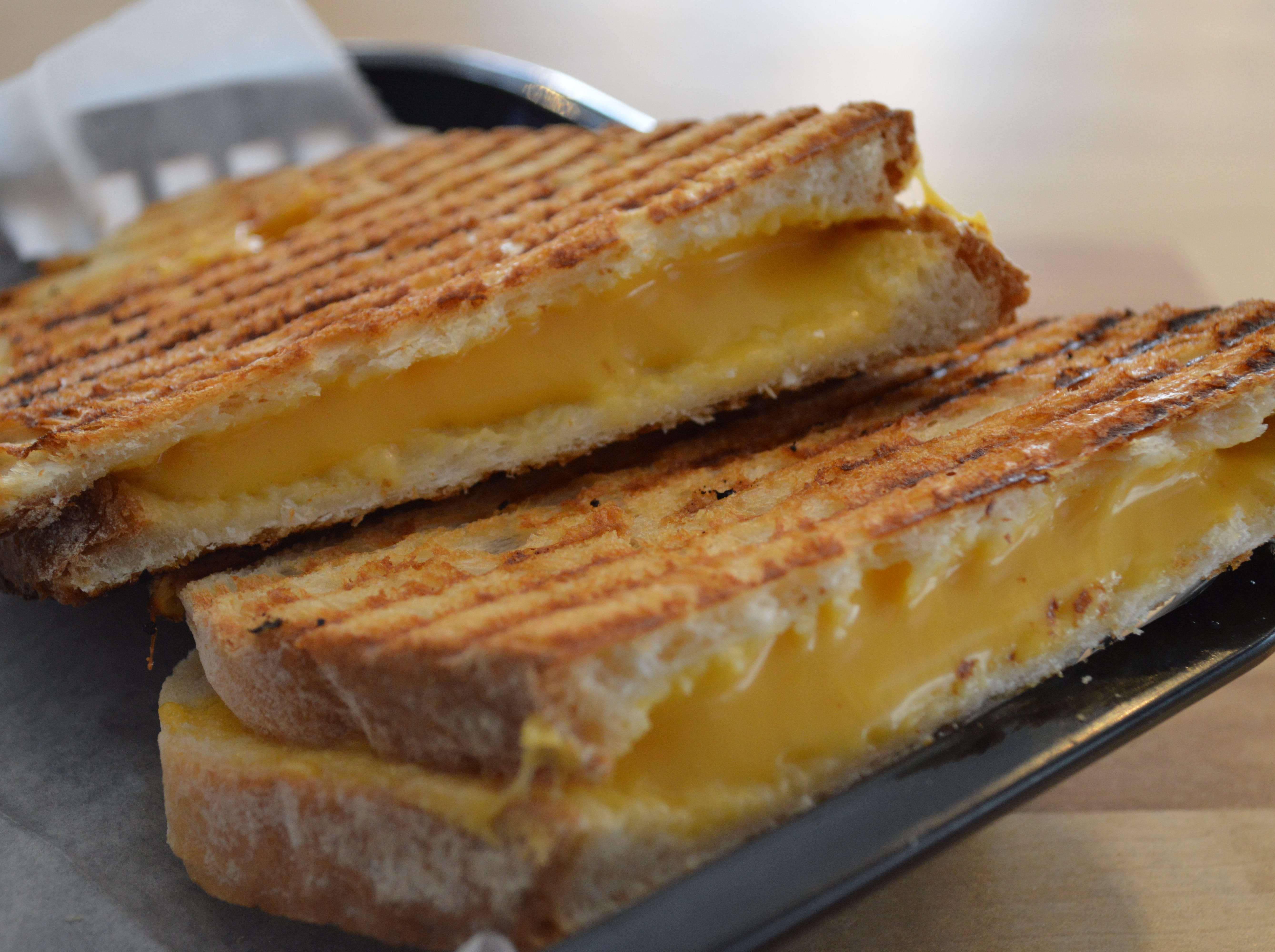 The most popular panini at 5Points is the grilled cheese for $4.