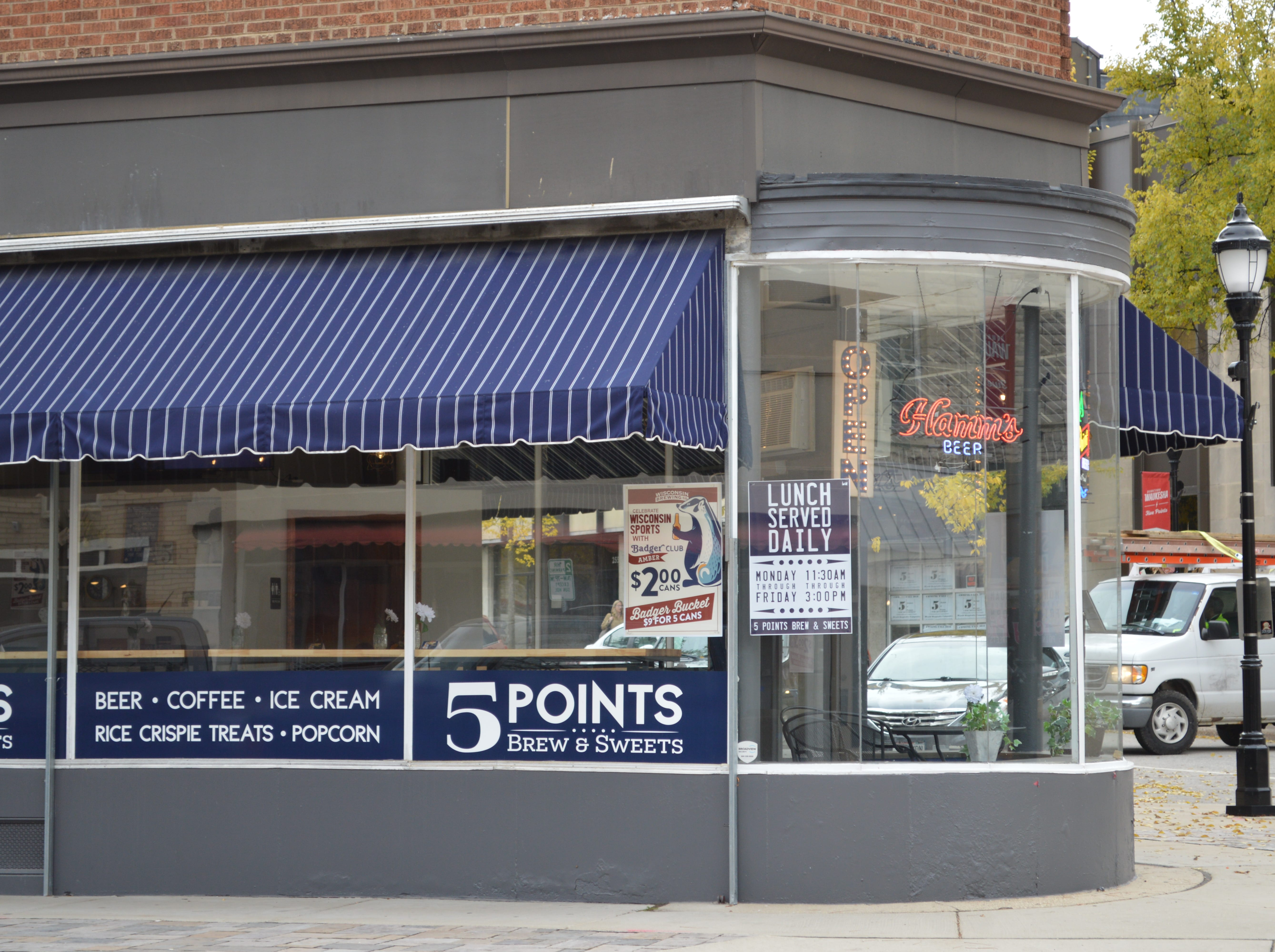 5Points Brew and Sweets is located at 279 W. Main St., Waukesha.