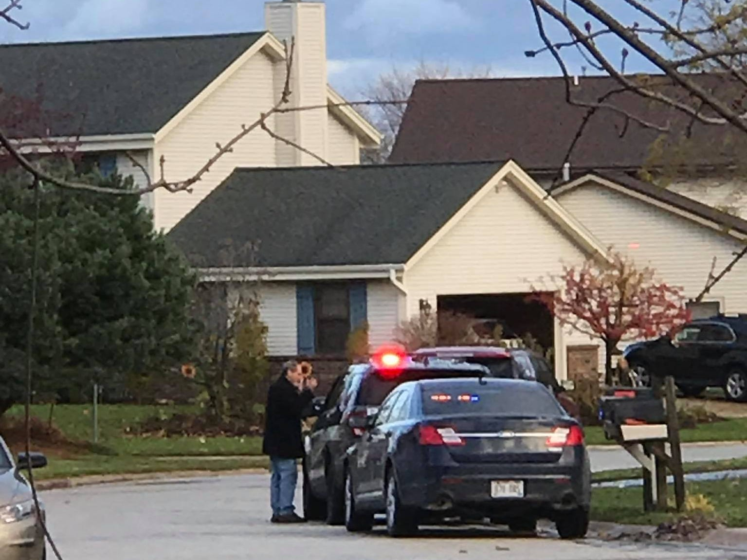 An officer-involved shooting took place outside of River of Life Church of God, W156 N7616 Pilgrim Road in Menomonee Falls. The house and cars seen here are just off Pilgrim Road.