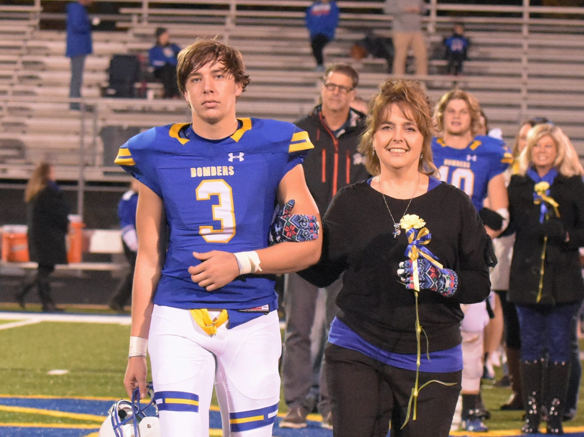 Colton Peters and his mother, Kimberly Peters.
