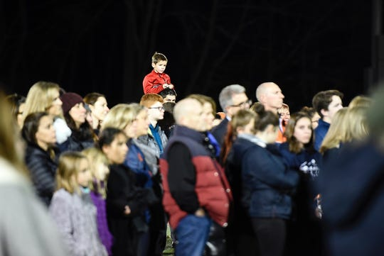 A few hundred people attended the vigil for 15-year-old Thomas Kolding on Wednesday, Nov. 7, 2018. Kolding, of Mountain Lakes, went missing the night before Halloween.