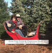 Keris Tree Farm & Christmas Shop, 848 Route 524 (Stone Tavern Road), Allentown. Keris has more than 1,000 trees of Blue Spruce, Norway Spruce, White Pine, Douglas Fir and Concolor Fir. Their renowned Christmas Shop is home to one of the finest vintage Christmas collections anywhere. Visitors love posing for photos in the antique sled.
