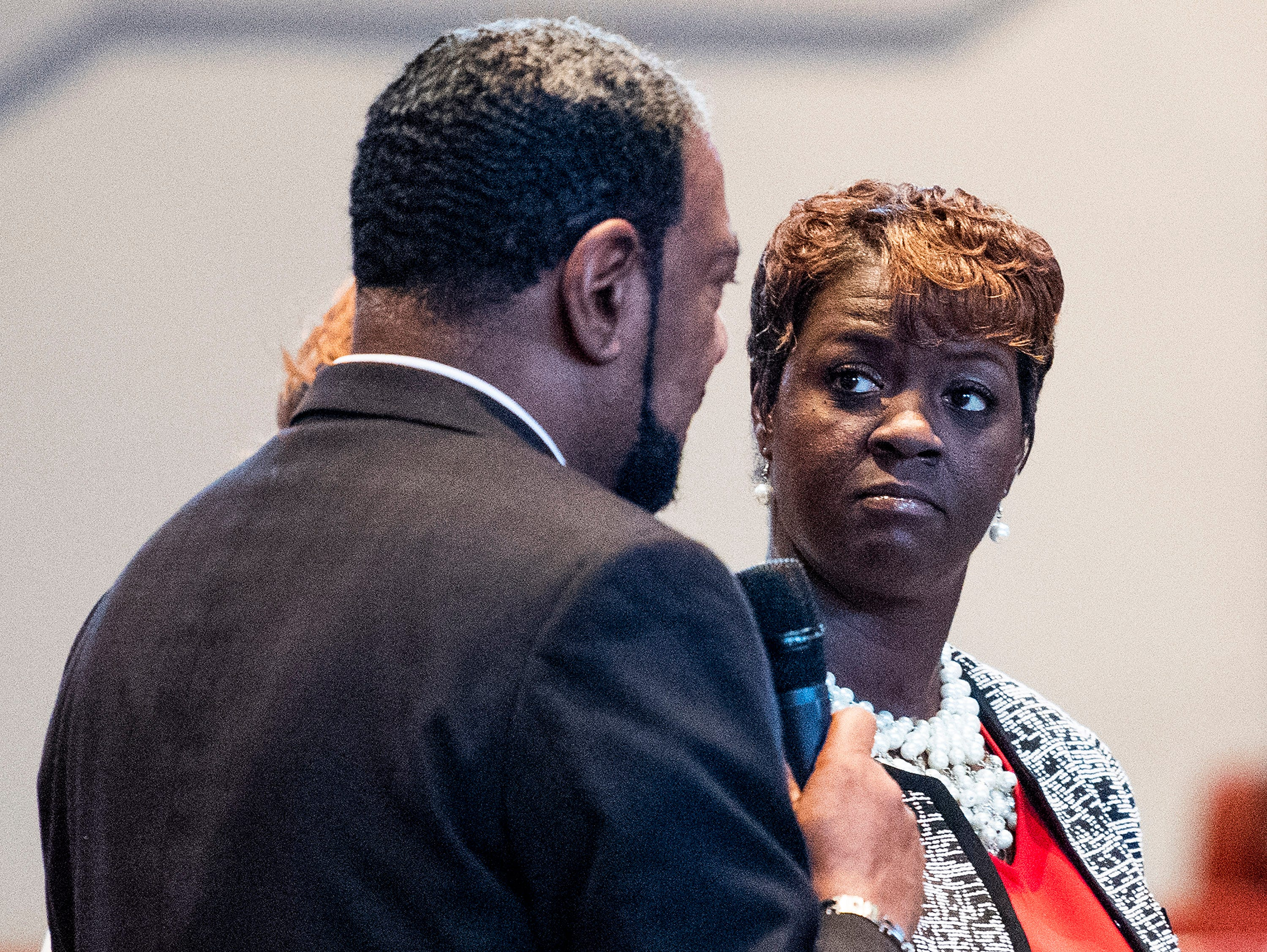 Representative Tashina Morris during her swearing-in ceremony as a state representative at Freewill Baptist Church in Montgomery, Ala., on Wednesday November 7, 2018. Morris is Montgomery's first black female legislator.