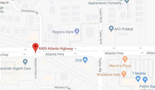 A business was robbed in the 6900 block of Atlanta Highway