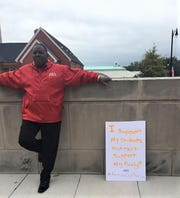 Sylvester James, a teacher at the Alabama Institute for Deaf and Blind in Talladega, was one of hundreds of Alabama educators that gathered at the Judicial Building Wednesday, Nov. 7 to protest a premium increase for their health insurance.