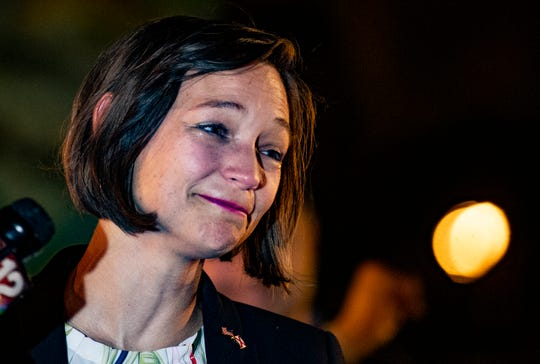 Democratic congressional candidate Tabitha Isner concedes her race to Martha Roby in Montgomery, Ala., on Tuesday evening November 6, 2018.