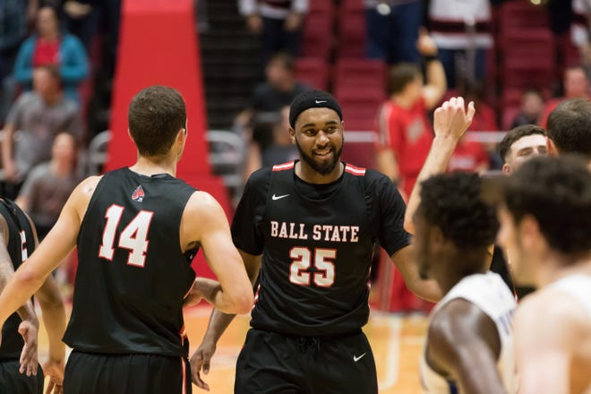 Ball State's Tahjai Teague during the game against Indiana State on Nov. 6, 2018 at Worthen Arena.