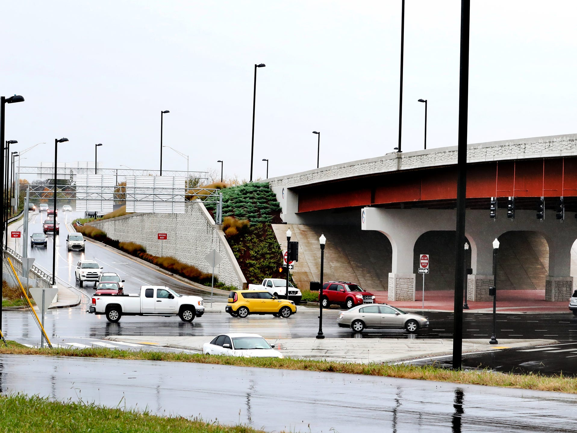 Traffic flows under the Bridge over Broad bridge, on Wednesday, Nov. 7, 2018, that opened nearly a year ago in December of 2017.